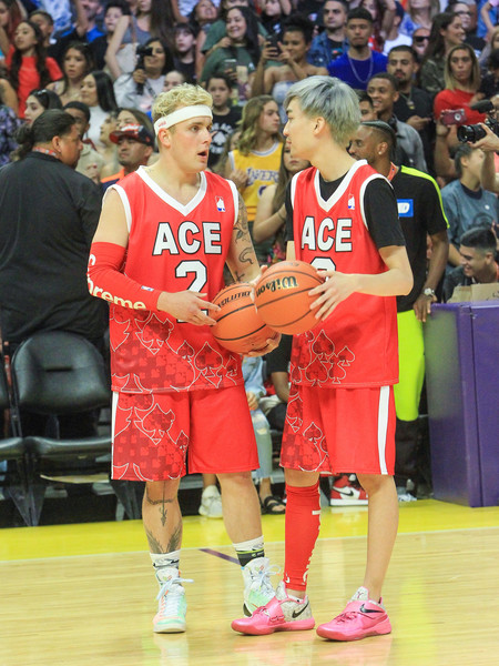Ace Family Chris Brown Basketball Charity Event at Staples Center []