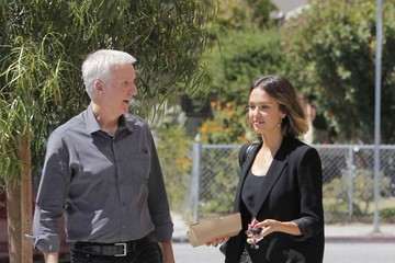 James Cameron Jessica Alba and James Cameron Do Lunch