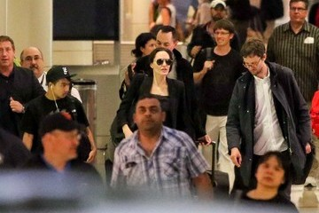 James Haven Angelina Jolie Arrives at LAX