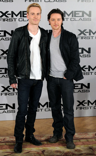 James McAvoy and Michael Fassbender - 'X-Men: First Class' photocall in London