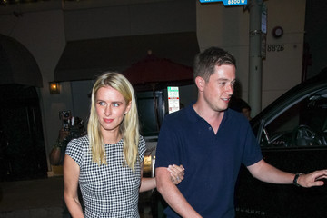James Rothschild Nicky Hilton Outside Craig's Restaurant