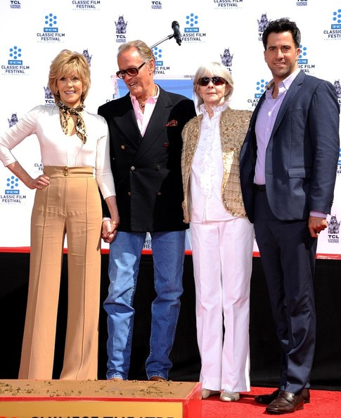 Jane Fonda Hand and Footprint Ceremony..TLC Chinese Theatre, Hollywood, CA..April 27, 2013..Job: 130427A1..(Photo by Axelle Woussen / Bauer-Griffin)..Pictured: Jane Fonda, Peter Fonda, Shirlee Fonda and Troy Garity.