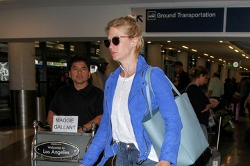 January Jones January Jones at LAX