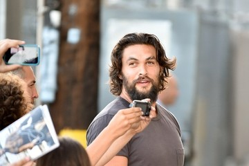 Jason Momoa Jason Momoa Heads to 'Jimmy Kimmel Live!'