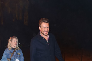Jason Segel Celebrities Are Seen at Haunted Hayride at Griffith Park