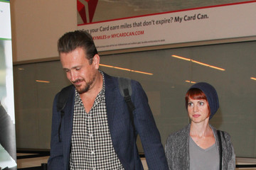 Jason Segel Jason Segel and Alexis Mixter Are Seen at LAX