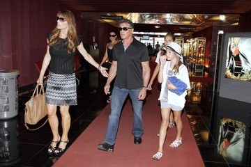 Jennifer Flavin Sylvester Stallone and Family on Vacation