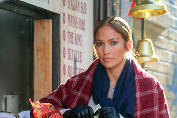 Jennifer Lopez Vanessa Hudgens Is Seen on the Set of 'Second Act'