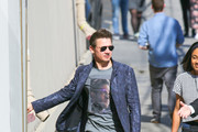 Jeremy Renner is seen arriving at 'Jimmy Kimmel Live' in Los Angeles, California.