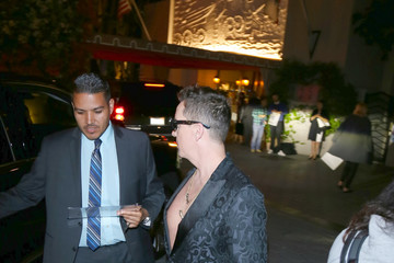 Jeremy Scott Celebrity Sightings at Sunset Tower Hotel in West Hollywood