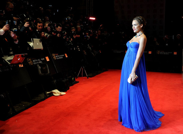 Jessica Alba Red carpet arrivals for the 2011 BAFTA (British Academy of Film