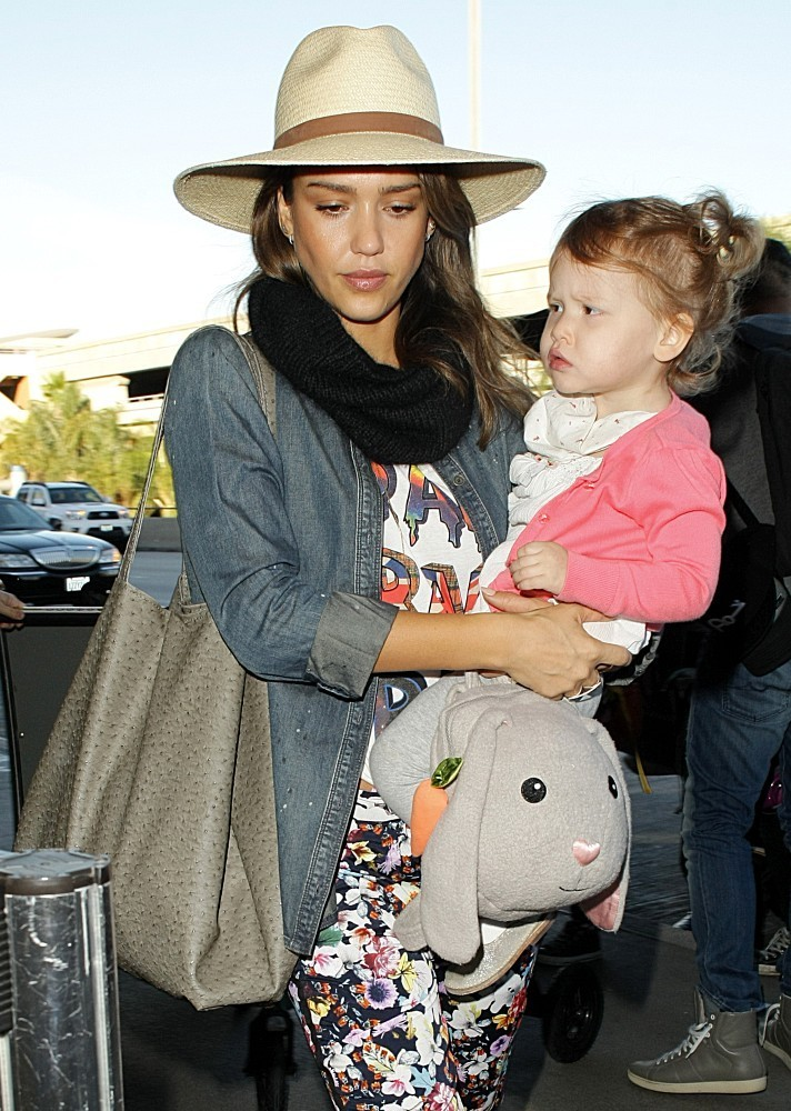 Jessica Alba and Haven are seen at LAX