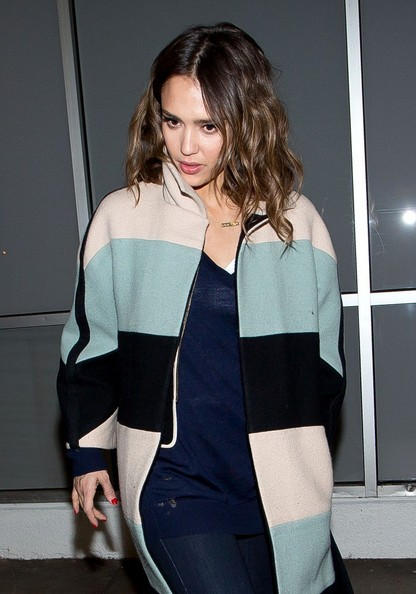 Jessica Alba arrives at LAX airport.
