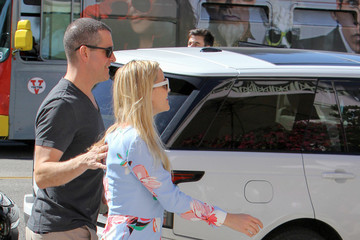 Jim Toth Reese Witherspoon and Jim Toth Have Lunch at The Ivy