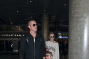 Jim Toth, Ava Phillippe and son Tennessee James Toth are seen at Los Angeles International Airport.