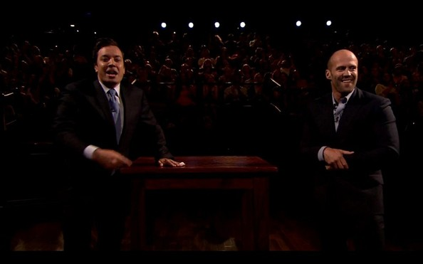 Jason Statham Visits 'Late Night with Jimmy Fallon' []