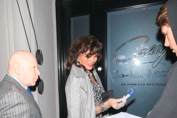 Joan Collins Joan Collins At Craig's In West Hollywood