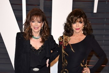 Joan Collins Jackie Collins Stars at the Vanity Fair Oscar Party