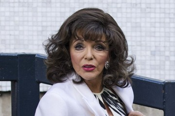 Joan collins joan collins arrives at the itv studios