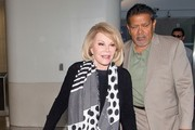 Joan Rivers Arrives at LAX