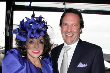 Joan Collins Joan Collins and Percy Gibson attend the Ladies Day 2011 Spring Racing Carnival