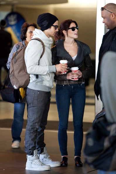 Ashley Greene and Joe Jonas at LAX