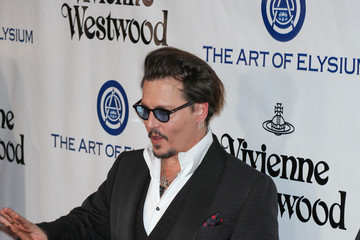 Johnny Depp Celebrities Attend Art of Elysium's 9th Annual Heaven Gala