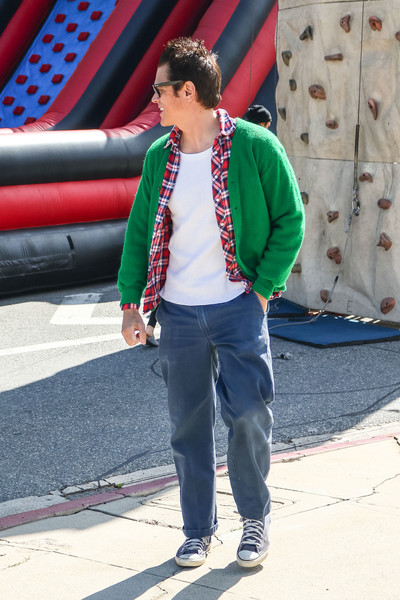 Johnny Knoxville Shops At The Farmer's Market In Studio City