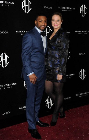 Jonathan Gill 14th March 2013. The Patrick Hellmann store launch party, 50 St James Street, London.Here, Jonathan 'JB' Gill and Chloe Tangney.