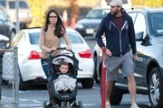Jordana Brewster and Andrew Form with son Julian