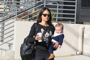 Jordana Brewster Spends Time With Her Family in LA