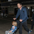 Joseph Bale Christian Bale And His Family Visit LAX