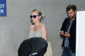 Joshua Jackson Diane Kruger and Joshua Jackson at LAX