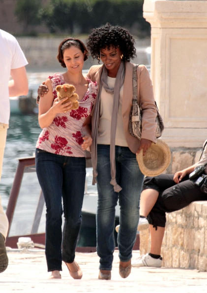 "Ashley Judd continues filming the TV movie ""Missing"" on the Croatian island of Hvar."