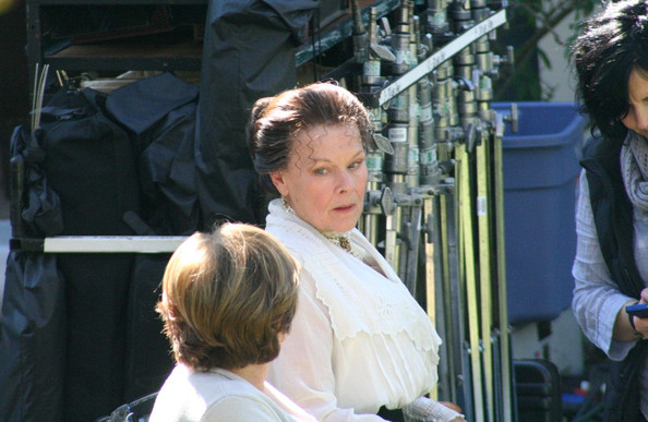 "Judi Dench Leonardo Dicaprio films scenes for his latest movie ""J. EDGAR"" based on the FBI chief, J. Edgar Hoover.Directed by Clint Eastwood and starring Dame Judi Dench."