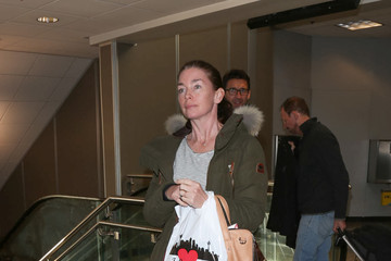 Julianne Nicholson Celebtrities at SLC Airport for the Sundance Film Festival