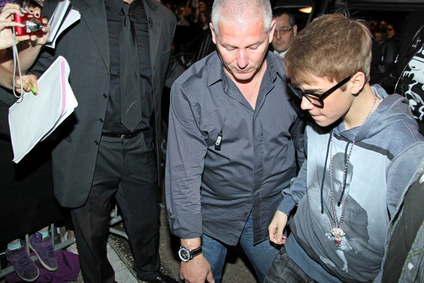 Justin Bieber ****NO ITALY / GERMANY / SWITZERLAND****.Guests are seen arriving at the Dolce & Gabbana Martini Gold launch party, the event was held at their Milan restaurant Gold.