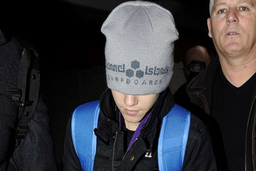 Justin Bieber Justin Bieber at Heathrow Airport