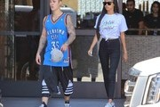 Justin Bieber and Jayde Pierce Go to the Gym