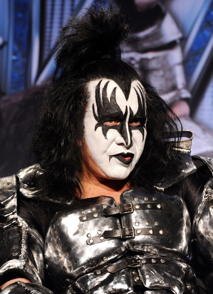 gene simmons in kiss motley crue co headlining tour zimbio. Black Bedroom Furniture Sets. Home Design Ideas