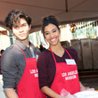 Kara Royster Celebrities Are Seen at LA Mission Thanksgiving Dinner for the Homeless