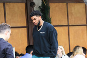 Karl-Anthony Towns is seen in Los Angeles, California.