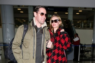 Kate Bosworth Michael Polish and Kate Bosworth at LAX