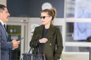 Kate Mara is seen at Los Angeles International Airport in Los Angeles, California on March 7, 2019.