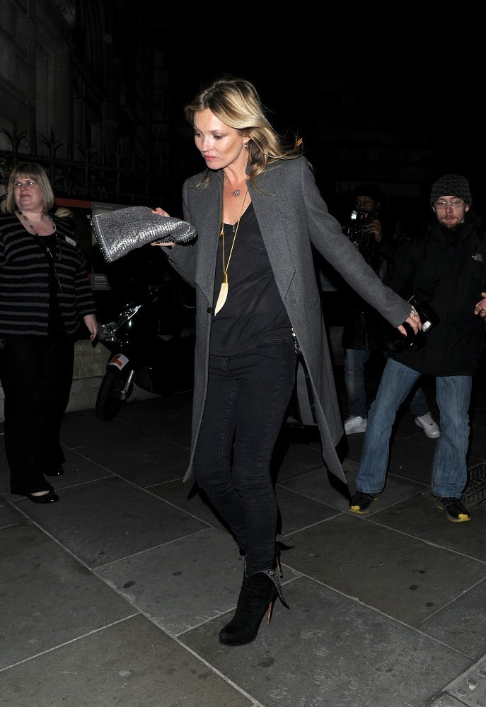 Kate Moss Enjoys a Late Night Out
