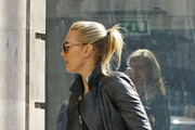 Kate Winslet is the picture of happiness as she goes shopping with her boyfriend Ned Rocknroll hand in hand around Covent Garden.