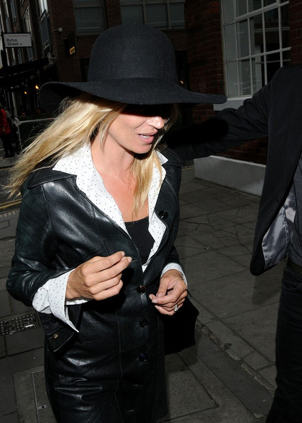 Kate Moss and her husband Jamie Hince are all smiles as they leave the White Cube gallery on Hoxton Square.