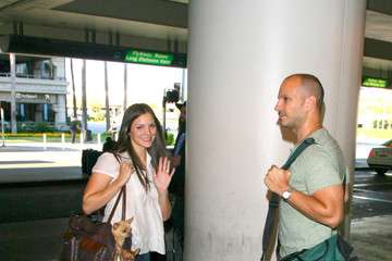 Nick Cokas Katharine McPhee at LAX