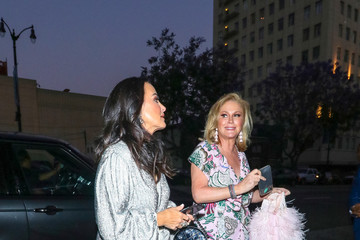 Kathy Hilton Kyle Richards Kyle Richards Is Seen At Cleo In Hollywood