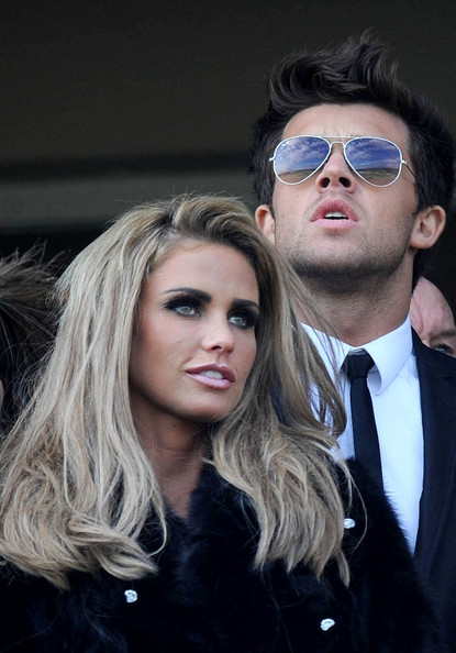 Katie Price - Katie Price and Leandro Penna at the Cheltenham Festival